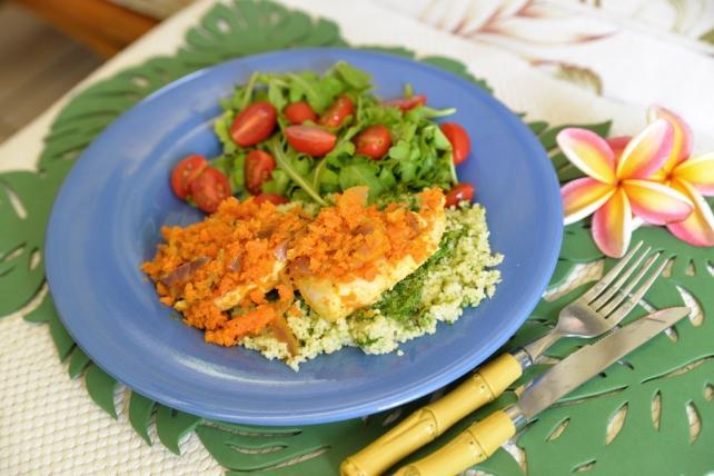 kurczak z marchewką i pesto