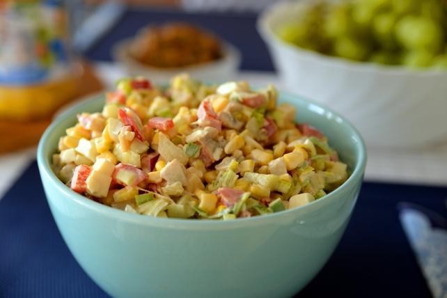 salatka z pieczarkami papryka