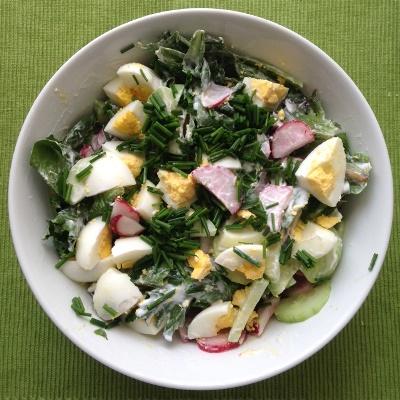 salatka z rzodkiewka ogorkiem