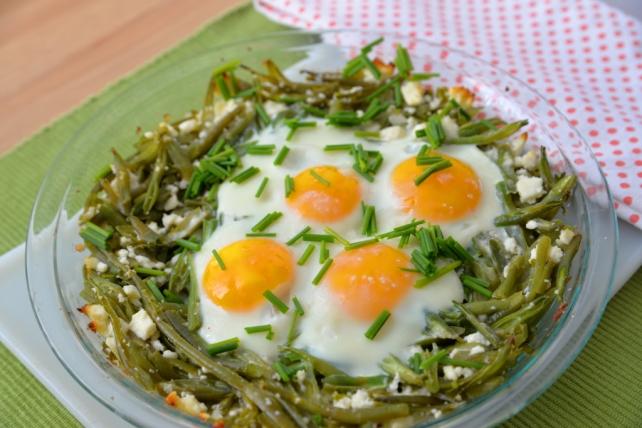 jajka na fasolce szparagowej
