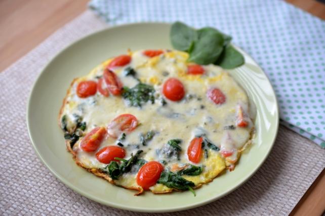 omlet ze szpinakiem i gorgonzola (2)