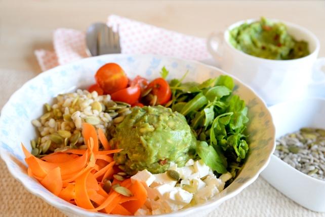 sałatka z guacamole