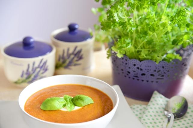 zupa z baklazana i pieczonej papryki