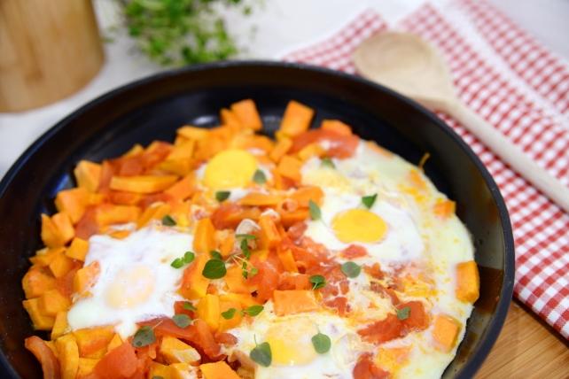 jajka z batatami