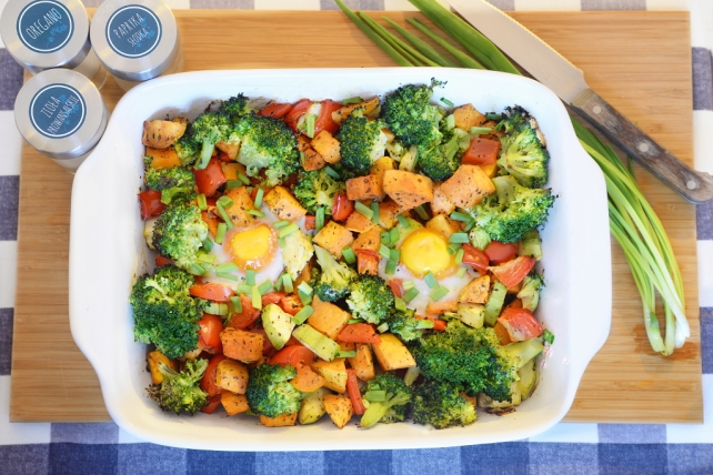 zapiekanka warzywna z batatami i jajkiem (5)