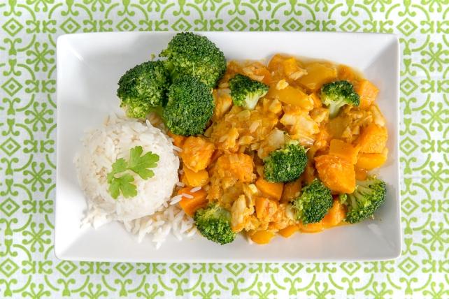 curry dyniowe z dorszem