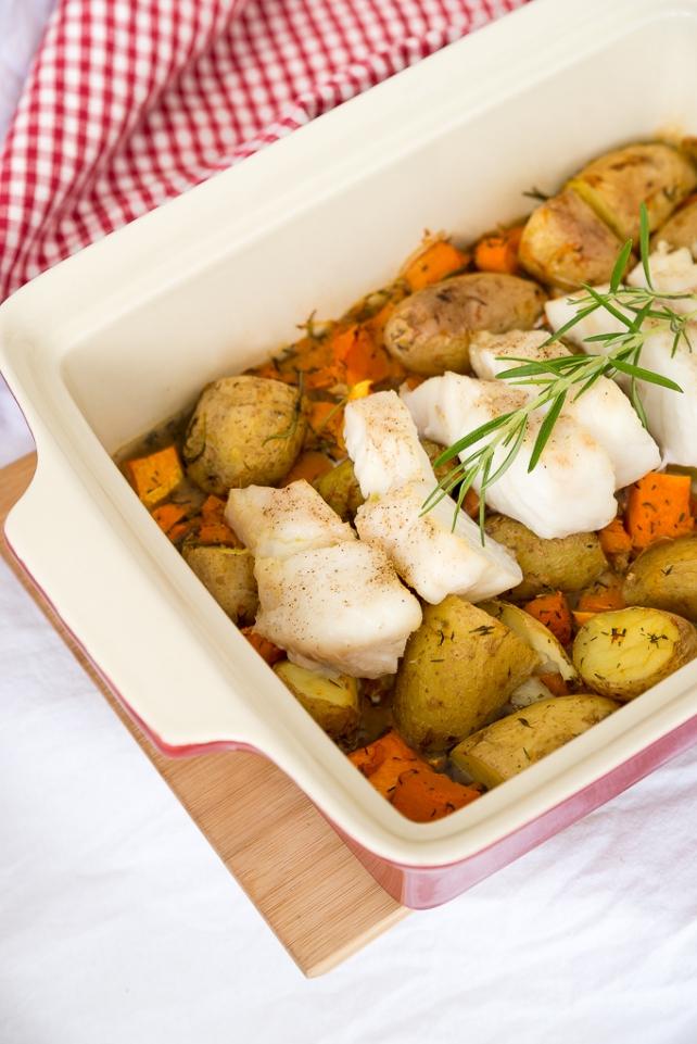 ryba zapiekana z ziemniaczkami i dynia 1