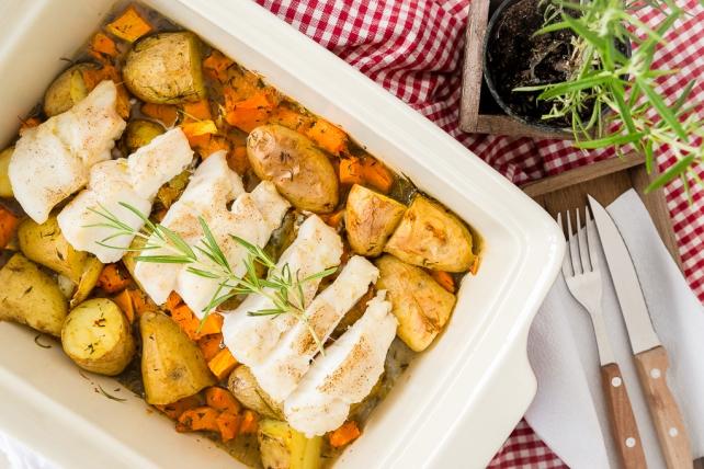 ryba zapiekana z ziemniaczkami i dynia 3