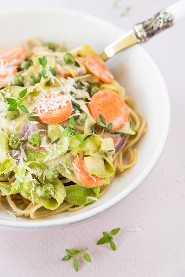 makaron z sosem tymiankowym (2)